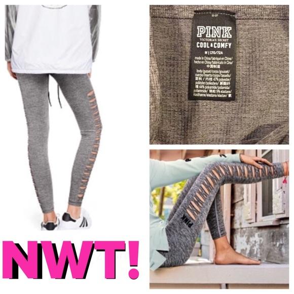 e80e550c172690 PINK Victoria's Secret Pants | Salenwt Pink Cool Comfy Cutout Tights ...